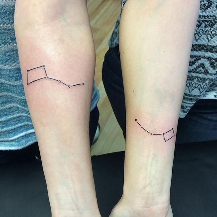 28 Sister Tattoos - Big dipper, little dipper.