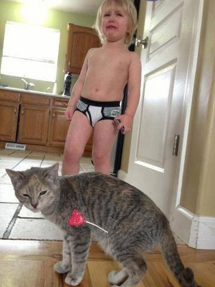 30 Reasons Why Kids Are the Worst - They have no respect for your pets.