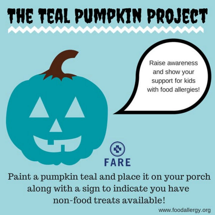 The Teal Pumpkin Project is about raising awareness of food allergies and showing support for kids with food allergies.