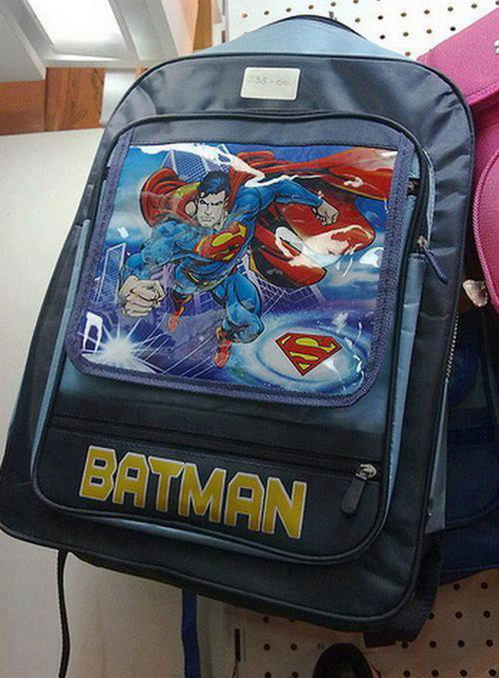 How can you confuse Superman for Batman?