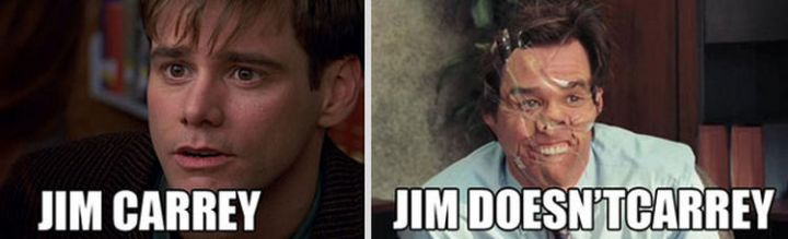 55 Hilariously Funny Celebrity Name Puns - Jim Carrey.