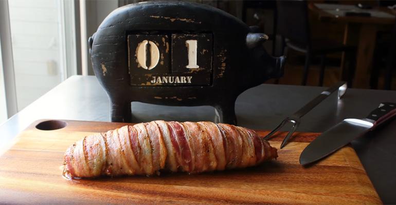 Bacon-Wrapped Pork Tenderloin Recipe Makes a Delicious Mini Porchetta.