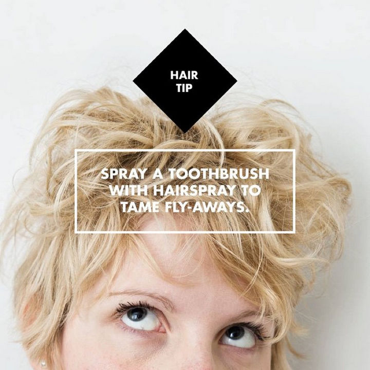 14 Lazy Girl Hair Hacks - Deeply condition your hair with leave-in conditioner by wrapping damp ends in a plastic bag for 1 to 3 hours.