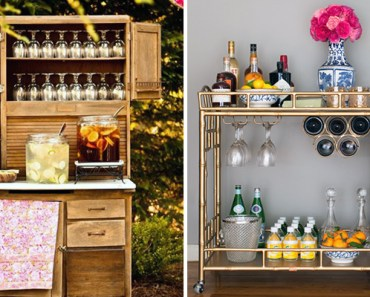 18 DIY Bars and Bar Carts Perfect for the Home or Patio.