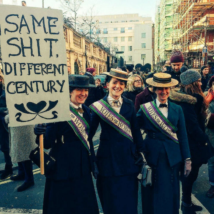 "20 Epic Women's March Signs - ""Same shit, different century"""