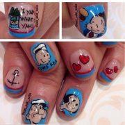 cartoon nail art design inspired