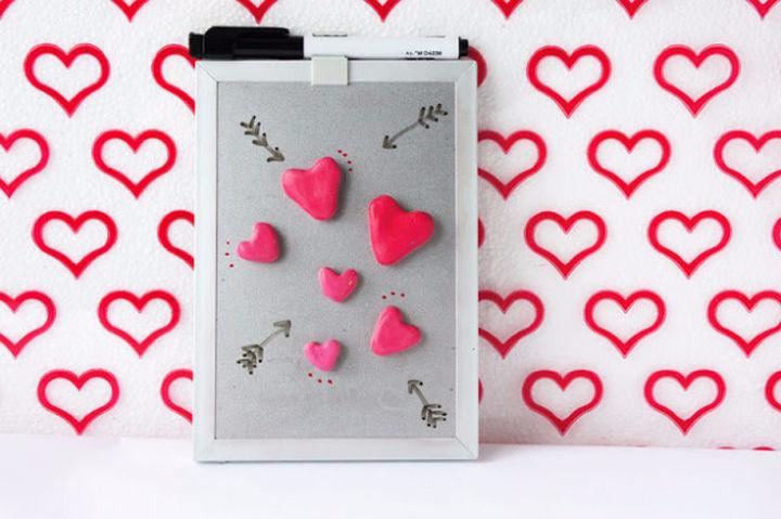 27 DIY Valentine's Day Crafts - Create DIY heart magnets.