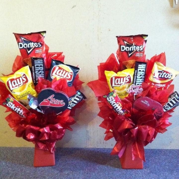 27 DIY Valentine's Day Crafts - Build a food bouquet.