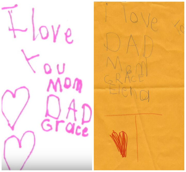 Elena left hundreds of heartfelt notes like these hidden throughout her home.