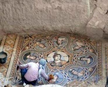 Archaeologists Unearth Greek Mosaics In Pristine Condition in Turkey.