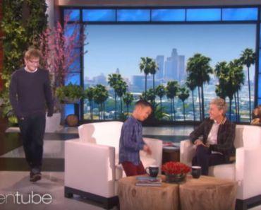 Ed Sheeran Surprises 8-Year-Old Boy Singing His Song on Ellen.
