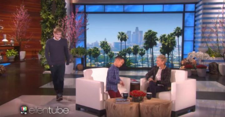 Ed Sheeran Surprises 8-Year-Old Kai Langer Singing His Song on Ellen.