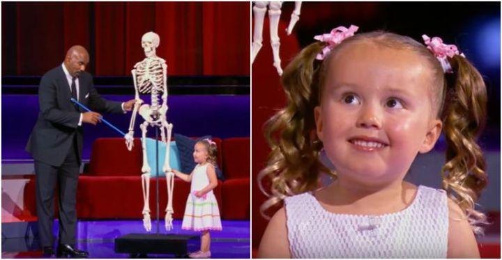 4-Year-Old Brielle Appears on Steve Harvey's Little Big Shots.