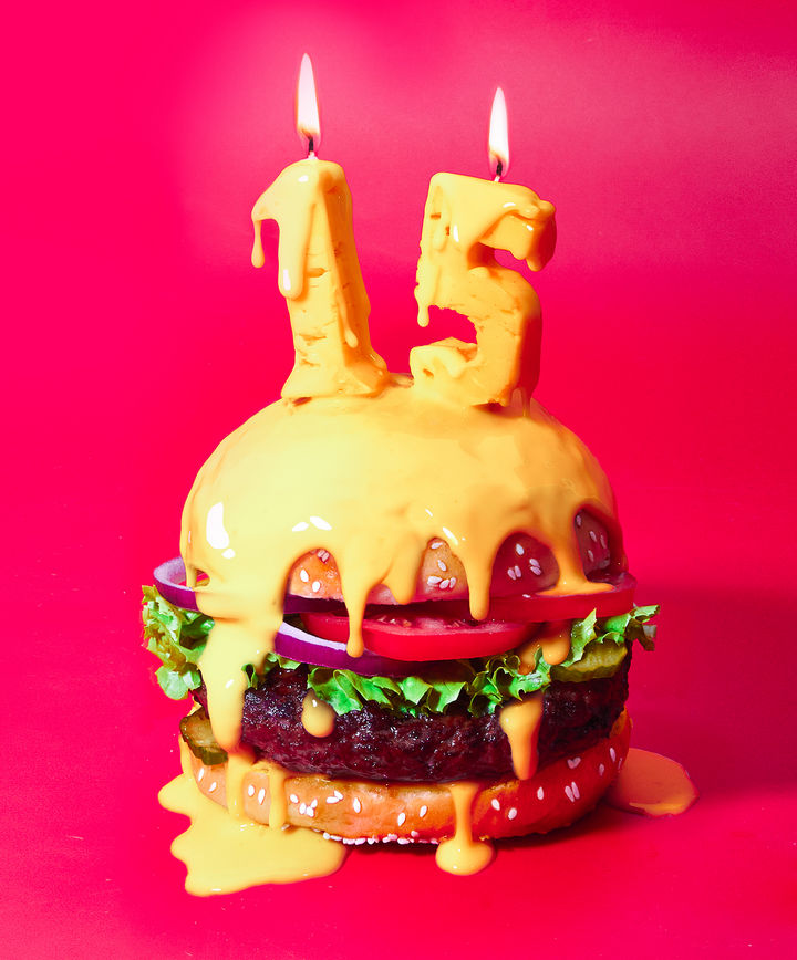 Fat andFurious Burgers - Happy Cheesy Burger.