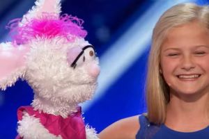 12-Year-Old Ventriloquist Darci Lynne at America's Got Talent 2017.