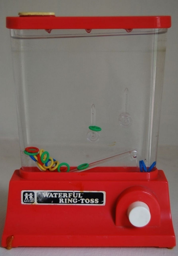 When handheld gaming used to mean playing with this...waterful ring-toss.