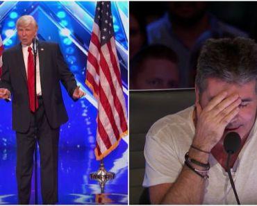 Singing Donald Trump Impersonator at America's Got Talent 2017.