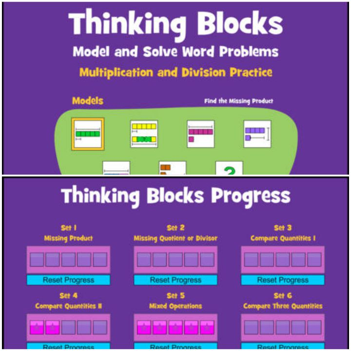 23 Kids Learning Apps - Thinking Blocks Multiplication.