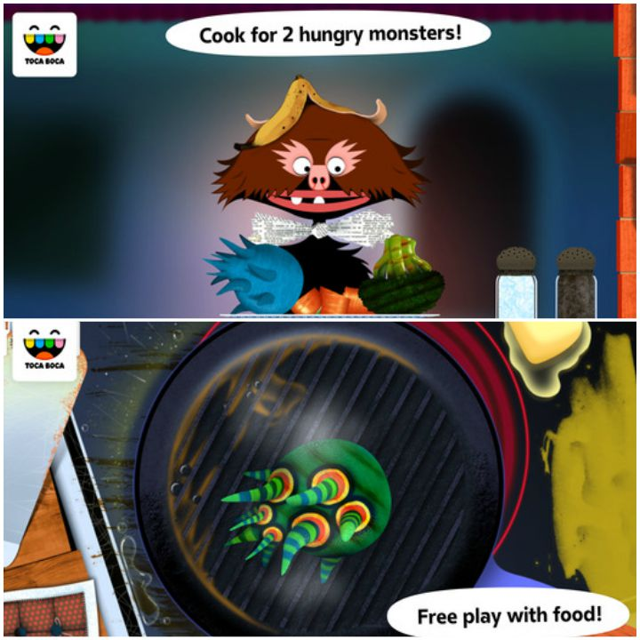23 Kids Learning Apps - Toca Kitchen Monsters.