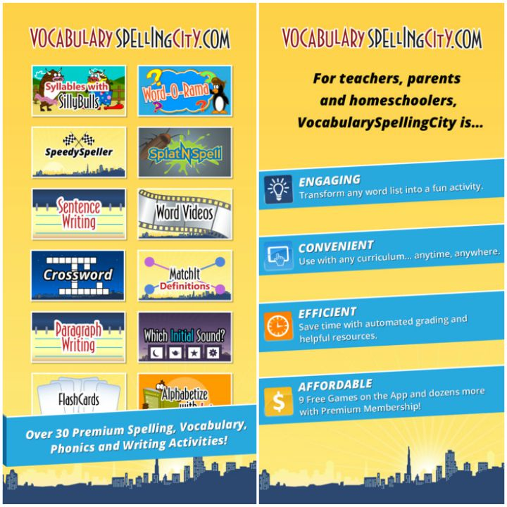 23 Kids Learning Apps - Vocabulary Spelling City.