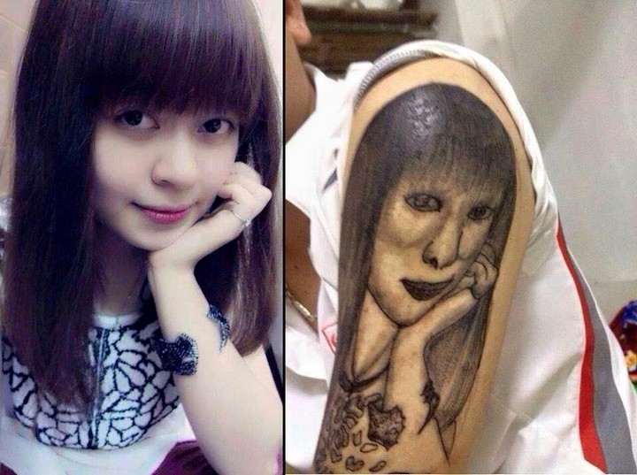 """25 Funny Tattoo Fails - """"It's like looking in the mirror,"""" he said sarcastically."""