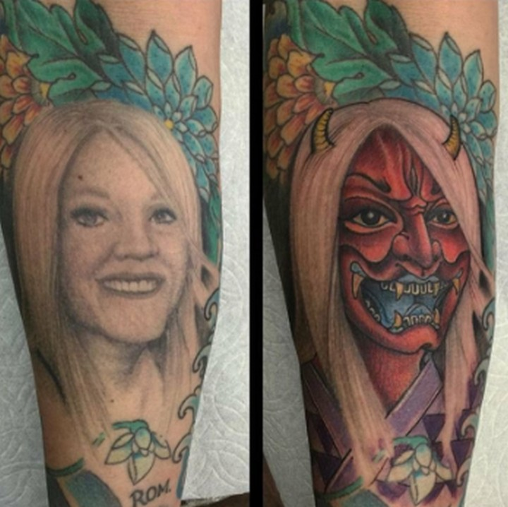 25 Funny Tattoo Fails - No matter how much you love someone, getting a tattoo of them is never a good idea. This is what he now thinks of his ex-wife.