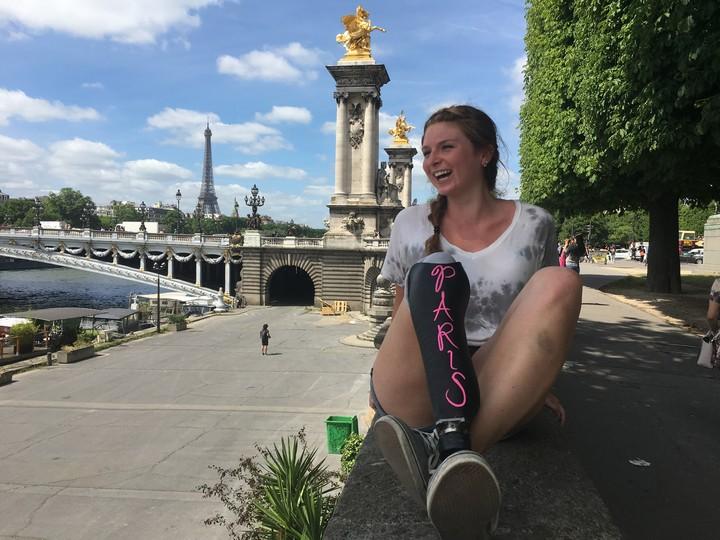 One of most beautiful bridges in the city, Pont AlexandreIII in Paris, France.