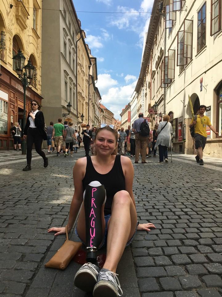 Taking it easy in Prague, Czech Republic.