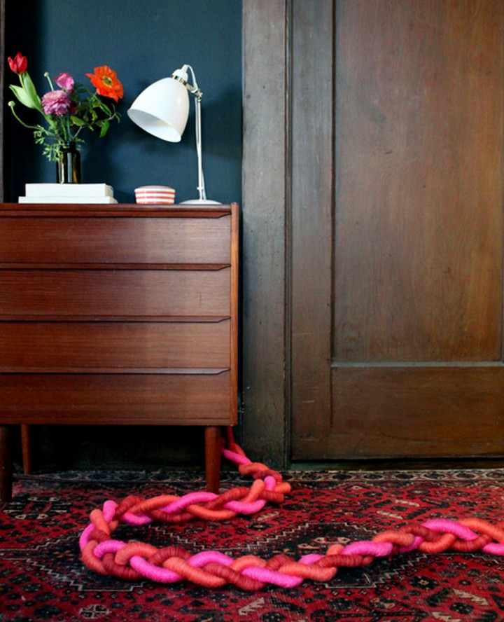 11 Creative Ways to Hide TV Wires - Turn unsightly extension cords into sculptural braided goodness.
