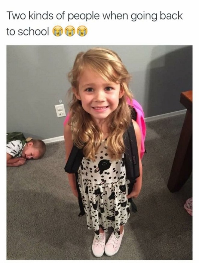 49 Funny School Memes - There are only two types of kids: they love back to school or they don't.