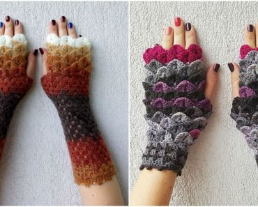 Crochet Dragon Scale Gloves Are All You Need When Winter Is Coming.