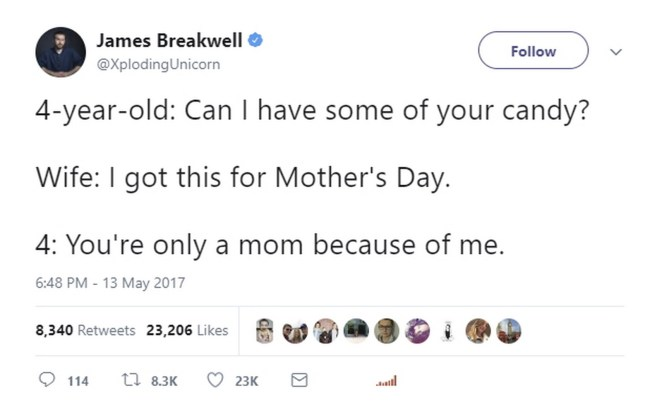17 Funniest Parent Tweets - A future lawyer.