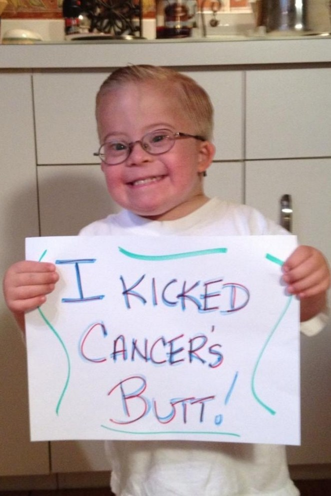 Full of smiles after beating cancer.