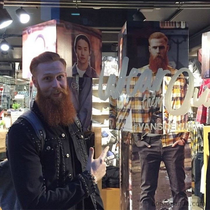 It's not uncommon to spot himself on billboards and magazines like GQ across the UK and the world.