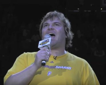 Jack Black Sings the National Anthem at Sparks Game and Nails It.