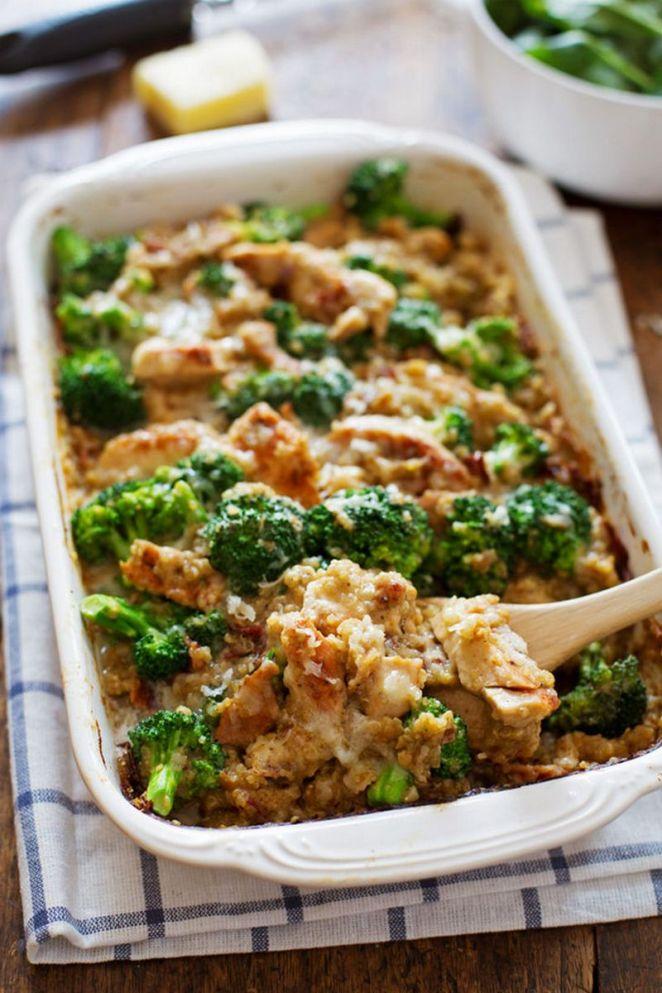 19 Chicken Recipes You Will Love - Creamy Chicken Quinoa and Broccoli Casserole.