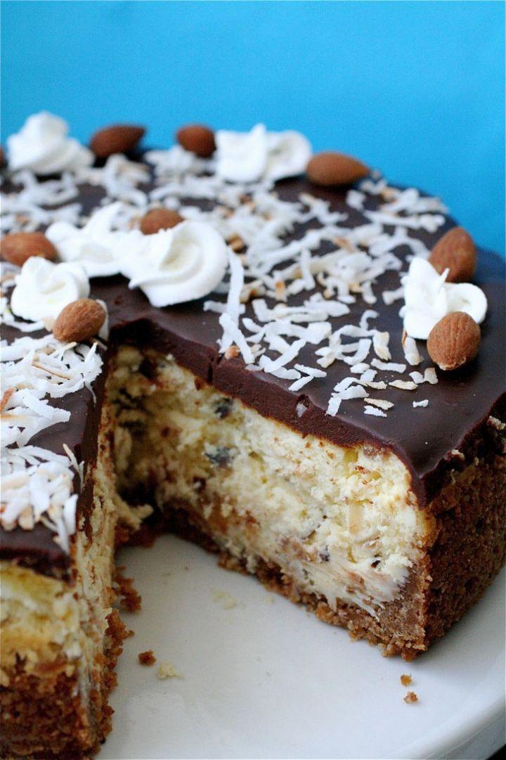 19 Delicious Cheesecake Recipes - Almond Joy Cheesecake.