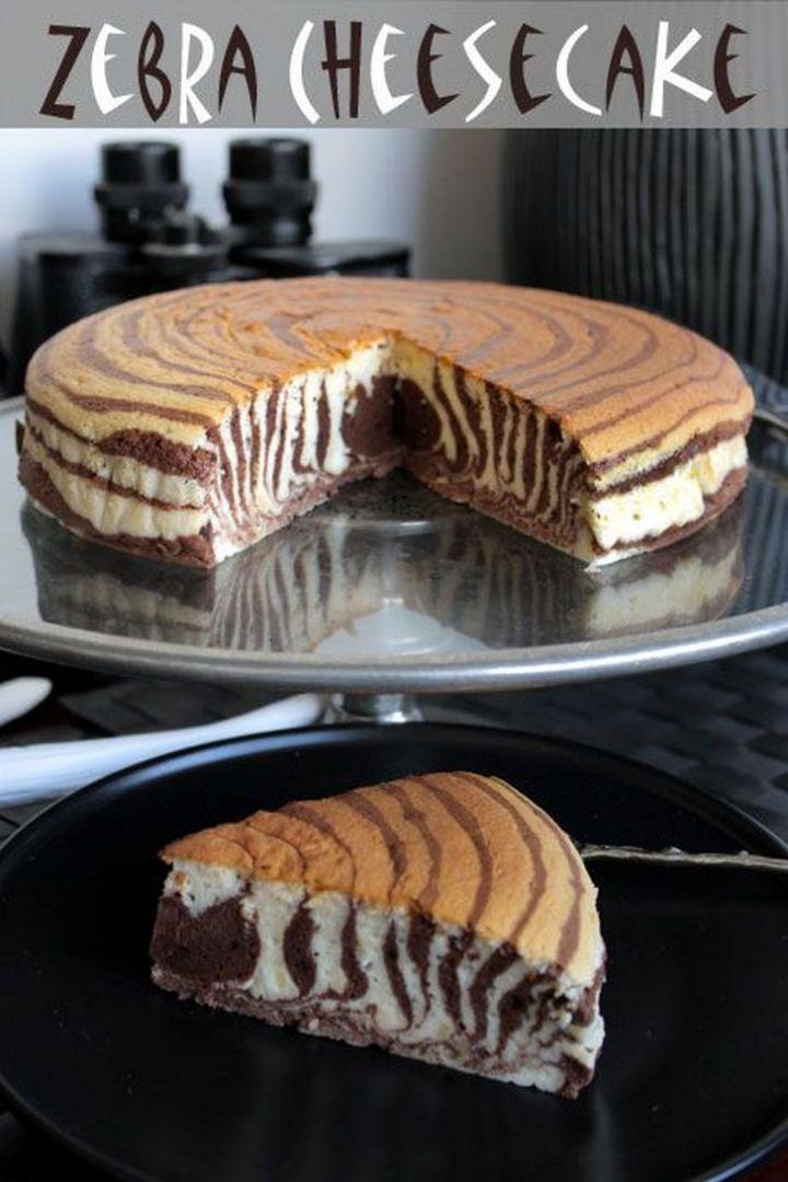 19 Delicious Cheesecake Recipes - Zebra Cheesecake.