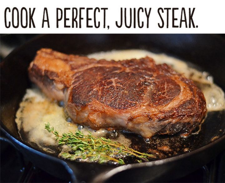 """21 Cute Ways to Say """"I Love You"""" - Cook a perfect, juicy steak."""