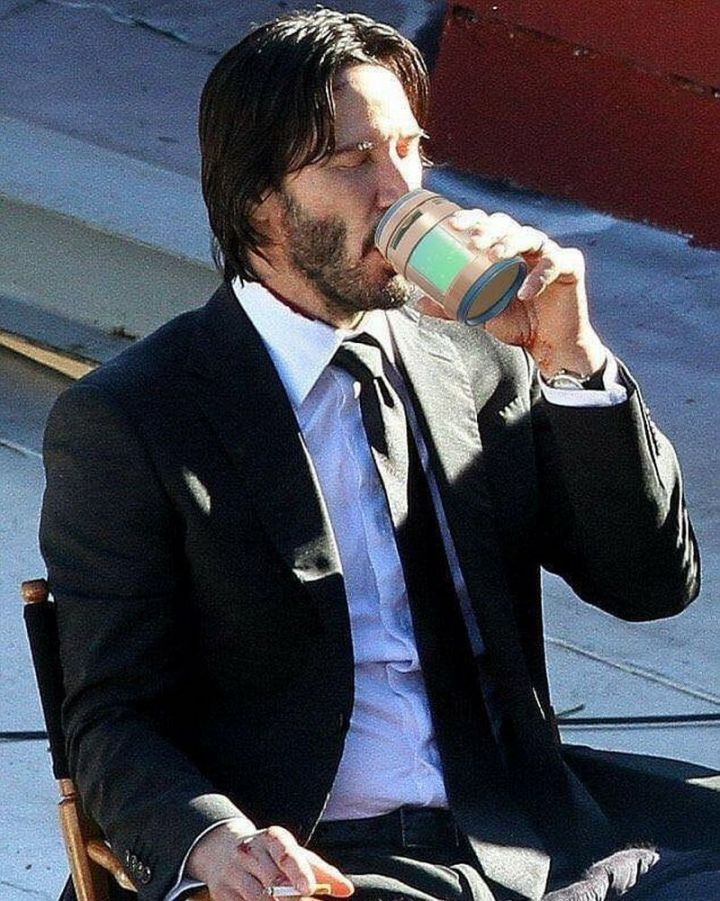 25 Fortnite Memes - Even John Wick enjoys a refreshing Chug Jug.
