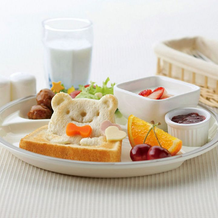 There are several molds including this adorable teddy bear toast mold and a frog mold. Make kid's lunches fun!