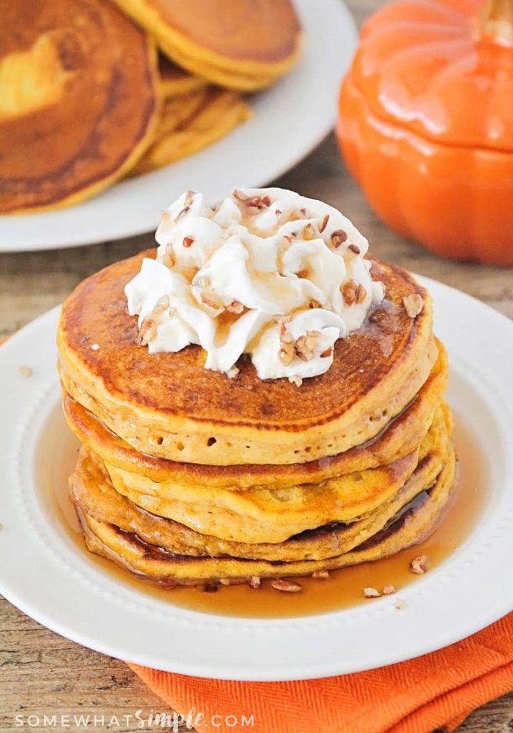 15 Luscious Pancake Recipes - Pumpkin Pancakes.