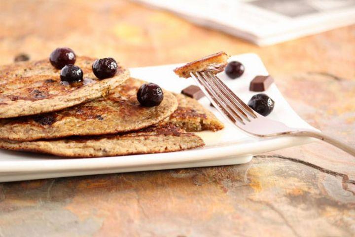 15 Luscious Pancake Recipes - Blueberry and Chocolate Pancakes.