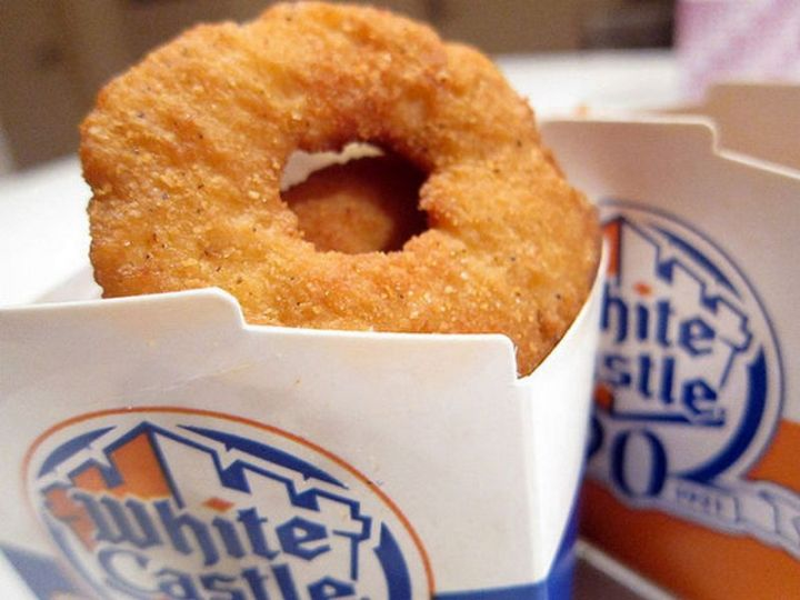 19 Ridiculous But Real Fast Food Items - White Castle Chicken Rings.