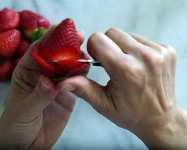 Lean How to Make Strawberry Roses for Edible Arrangements.