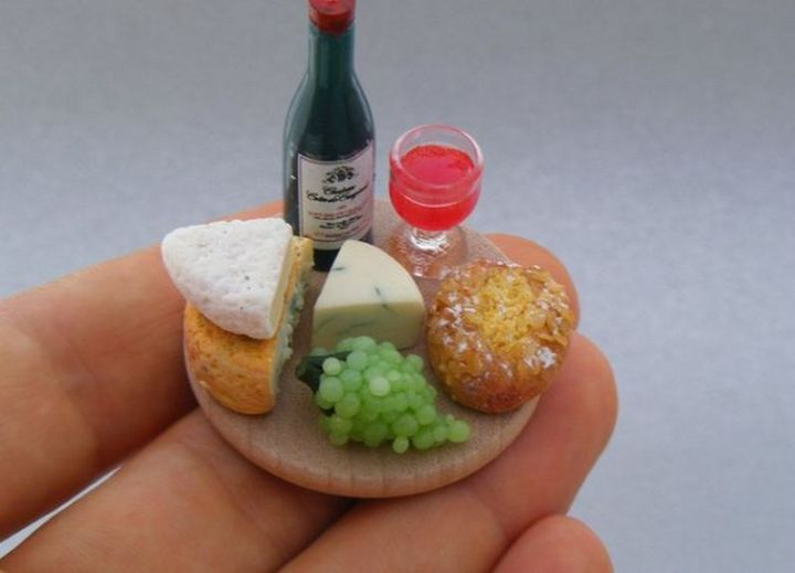 Shay Aaron Miniatures - Tiny Food (cheese plate) That is Collectible and Wearable!