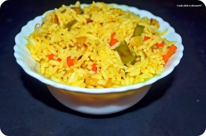 49 Indian Side Dishes - Simple Vegetable Rice.