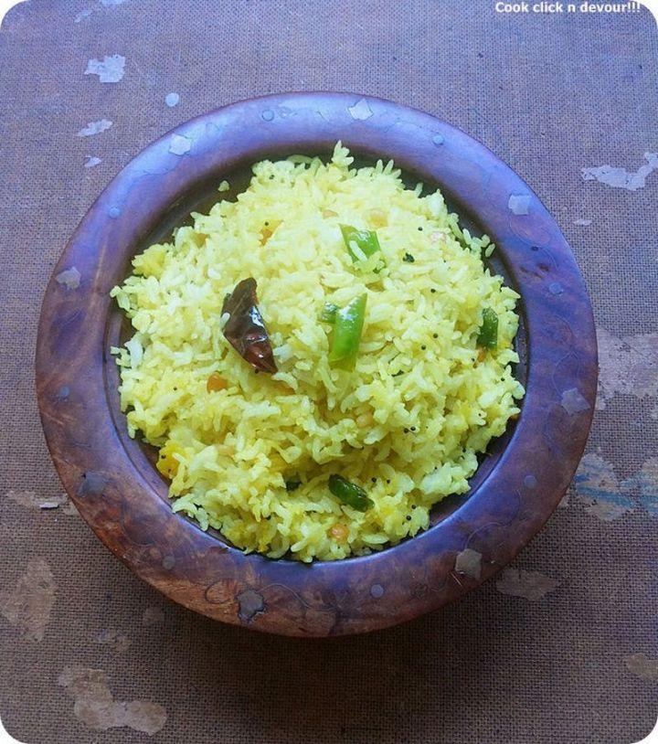 49 Indian Side Dishes - Manga Sadham (Mango Rice).