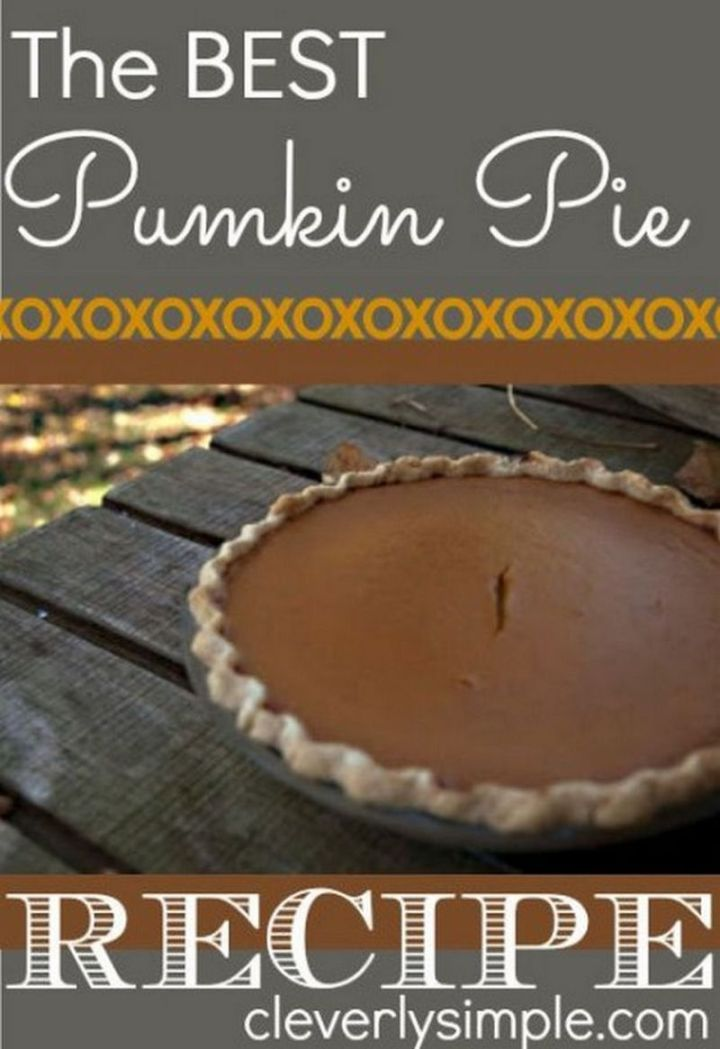 27 Pumpkin Pie Recipes - Mom's Pumpkin Pie.