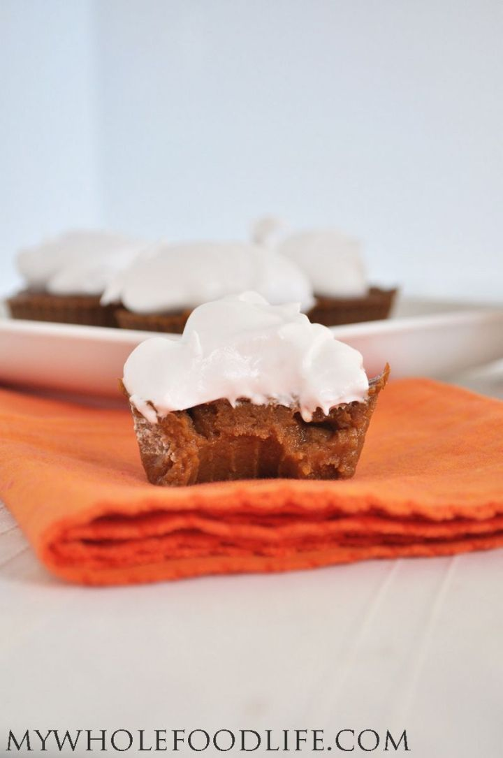 27 Pumpkin Pie Recipes - Paleo Pumpkin Pie Cupcakes.
